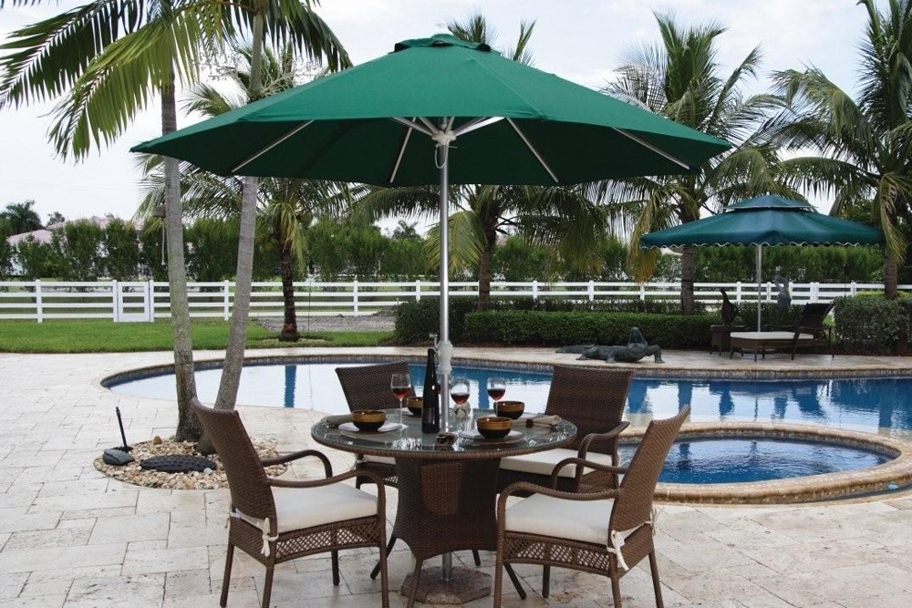 10 Ft Patio Umbrellas Regarding Newest The Patio Umbrella Buyers Guide With All The Answers (View 8 of 15)