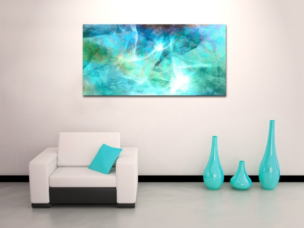 10 Inspirations Of Large Canvas Wall Art Modern Simple Teal And Pertaining To Widely Used Modern Large Canvas Wall Art (View 1 of 15)