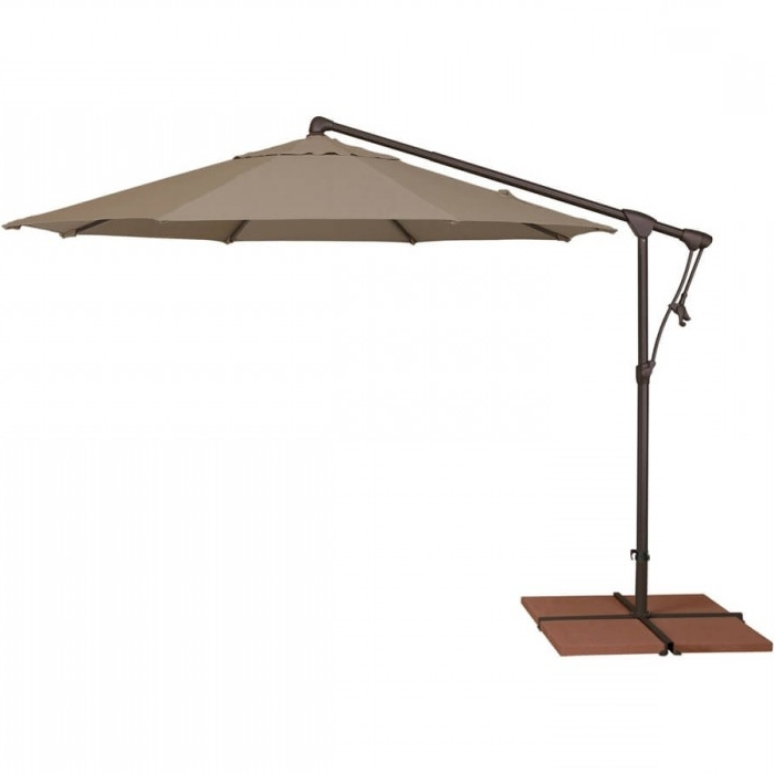 10' Octagon Cantilever Patio Umbrella Regarding Famous Krevco Patio Umbrellas (Gallery 2 of 15)