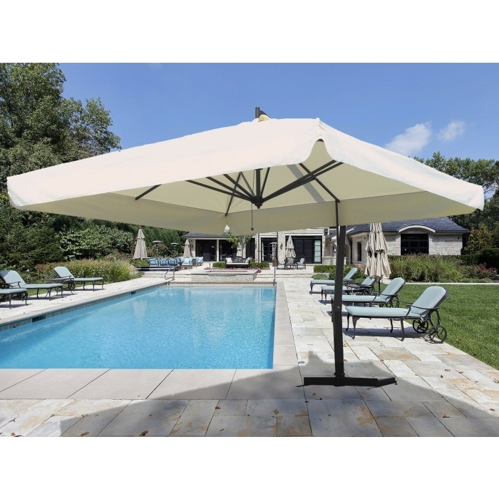 10' Square Cantilever Patio Umbrella – Umbrellas – Patio & Outdoor Inside 2018 Krevco Patio Umbrellas (View 2 of 15)