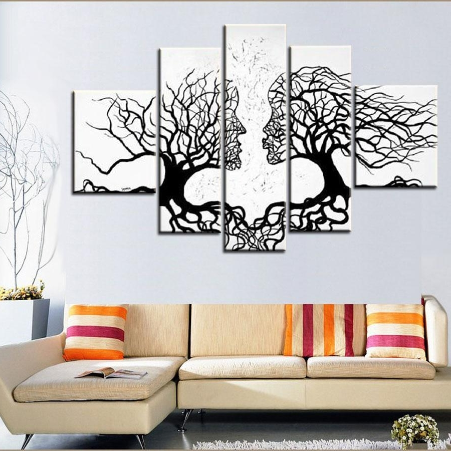 [%100% Hand Made Promotion Black White Tree Canvas Painting Abstract Pertaining To Current Black And White Wall Art|Black And White Wall Art Within Widely Used 100% Hand Made Promotion Black White Tree Canvas Painting Abstract|2018 Black And White Wall Art Throughout 100% Hand Made Promotion Black White Tree Canvas Painting Abstract|Well Known 100% Hand Made Promotion Black White Tree Canvas Painting Abstract Pertaining To Black And White Wall Art%] (View 3 of 15)