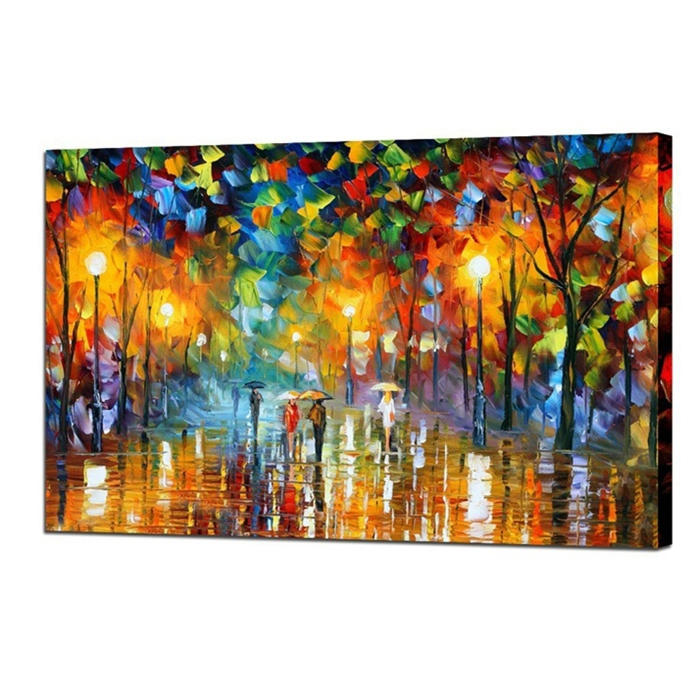 [%100% Hand Painted Landscape Oil Painting Lovers In Street Abstract Regarding 2017 Abstract Canvas Wall Art|Abstract Canvas Wall Art Intended For Trendy 100% Hand Painted Landscape Oil Painting Lovers In Street Abstract|Favorite Abstract Canvas Wall Art Throughout 100% Hand Painted Landscape Oil Painting Lovers In Street Abstract|Favorite 100% Hand Painted Landscape Oil Painting Lovers In Street Abstract Throughout Abstract Canvas Wall Art%] (View 10 of 15)