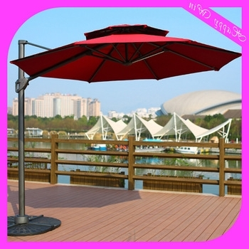 10Ft Aluminium Hanging Offset Roma Outdoor Patio Umbrella,aluminium For Current Hanging Offset Patio Umbrellas (Gallery 11 of 15)