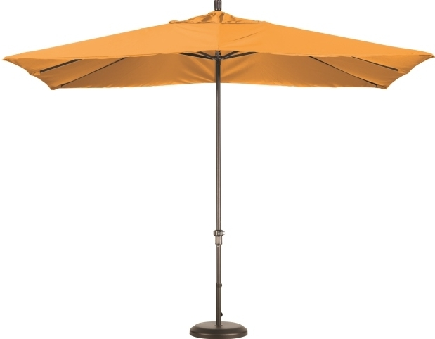 11 Foot Aluminum Sunbrella A Rectangular Patio Umbrella With Regard To Widely Used Square Sunbrella Patio Umbrellas (View 1 of 15)