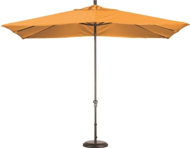 11 Foot Aluminum Sunbrella A Rectangular Patio Umbrella With Regard To Widely Used Square Sunbrella Patio Umbrellas (View 13 of 15)