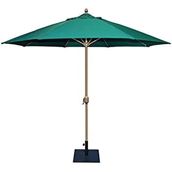 11 Ft. Sunbrella Patio Umbrellas Intended For Favorite Amazon : Tropishade 11' Sunbrella Patio Umbrella With Forest (Gallery 13 of 15)