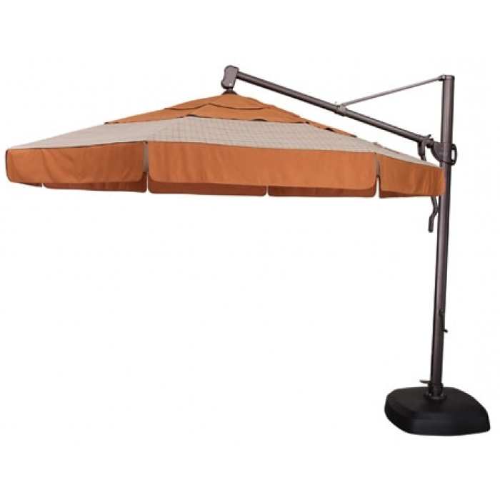 11' Octagon Cantilever Patio Umbrella For Popular Krevco Patio Umbrellas (View 7 of 15)
