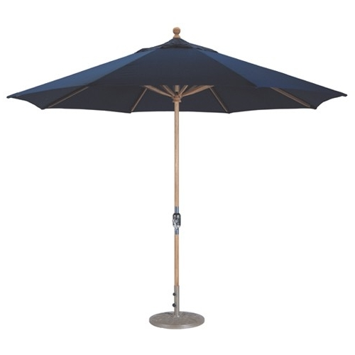 11' Teak Wood Market Umbrella (Gallery 2 of 15)