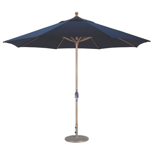 11' Teak Wood Market Umbrella (View 2 of 15)
