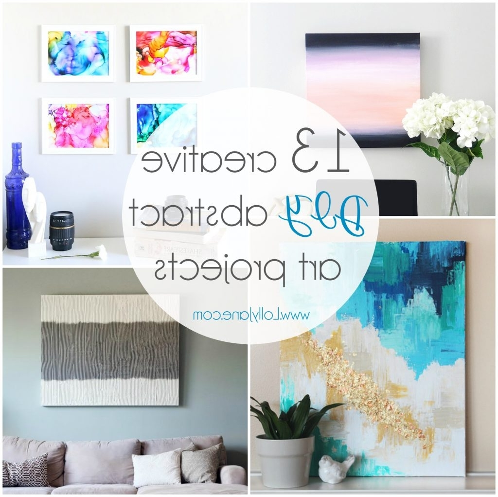 13 Creative Diy Abstract Wall Art Projects – Lolly Jane Intended For Most Recent Diy Wall Art (View 3 of 15)