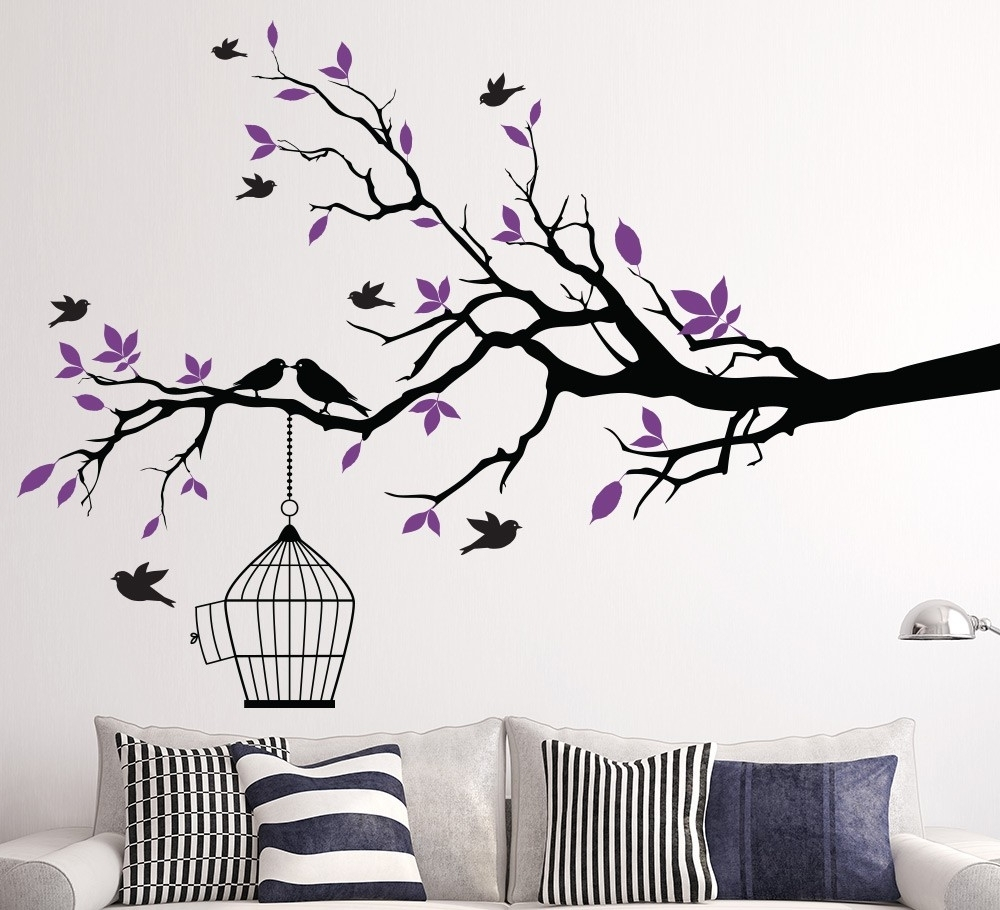 19 Birdcage Wall Decor Ideas To Decorate Your Wall Intended For Favorite Wall Tree Art (Gallery 9 of 15)