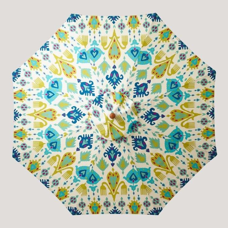 20 Elegant Patterned Patio Umbrellas (View 1 of 15)