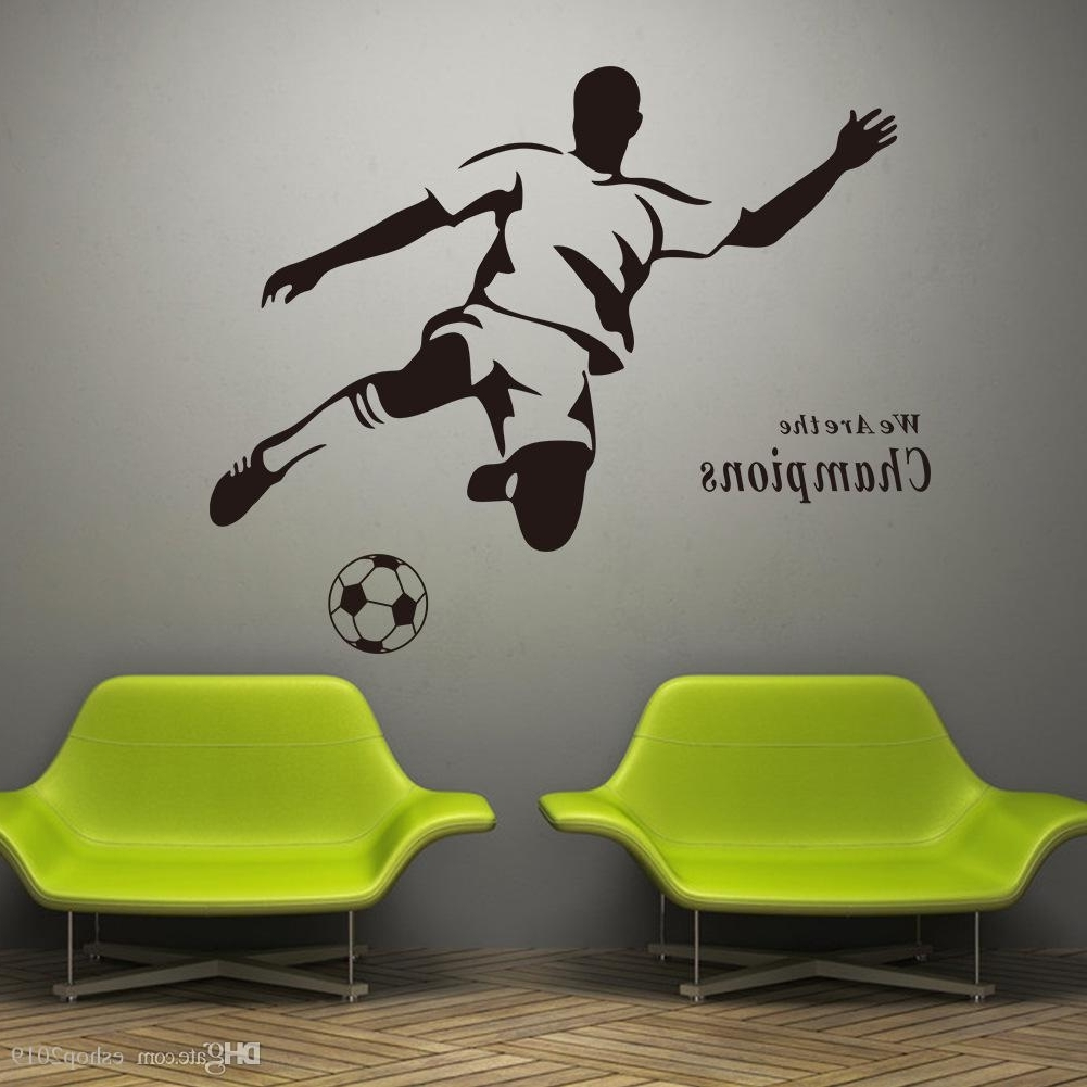 2016 New Soccer Wall Decal Sticker Sports Decoration Mural For Boys Throughout Fashionable Soccer Wall Art (View 14 of 15)