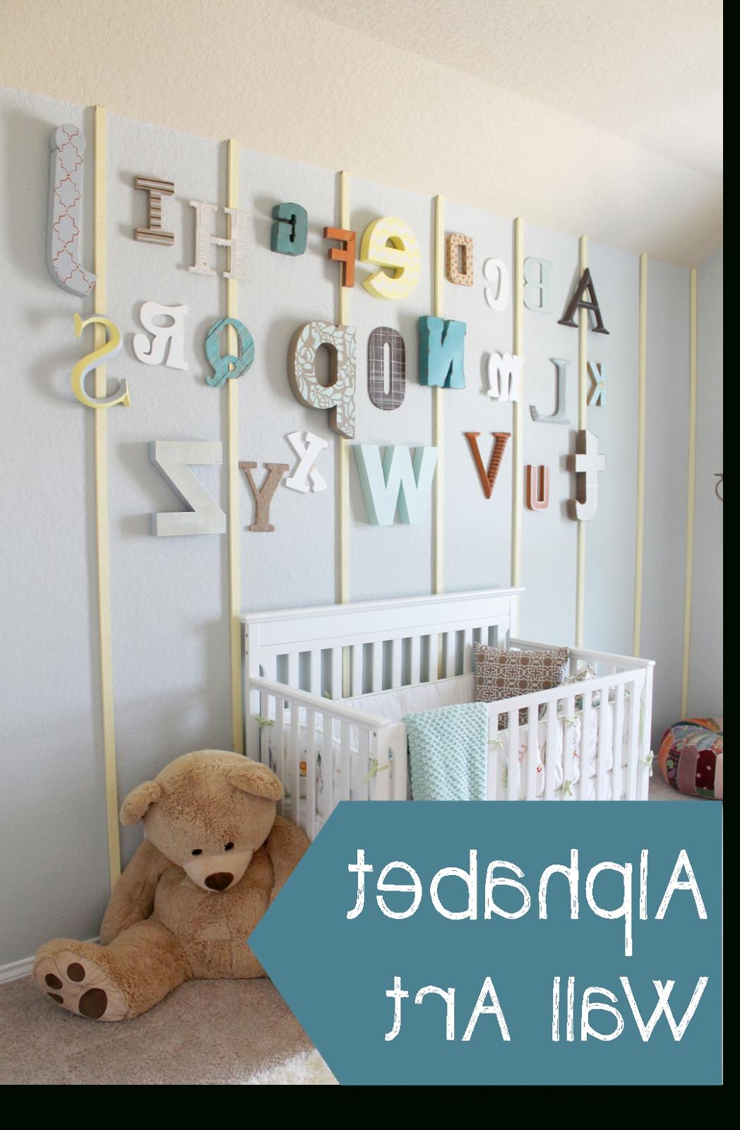 2017 44 Alphabet Wall Art, Startling Alphabet Wall Decor Nursery Wooden Pertaining To Alphabet Wall Art (View 11 of 15)