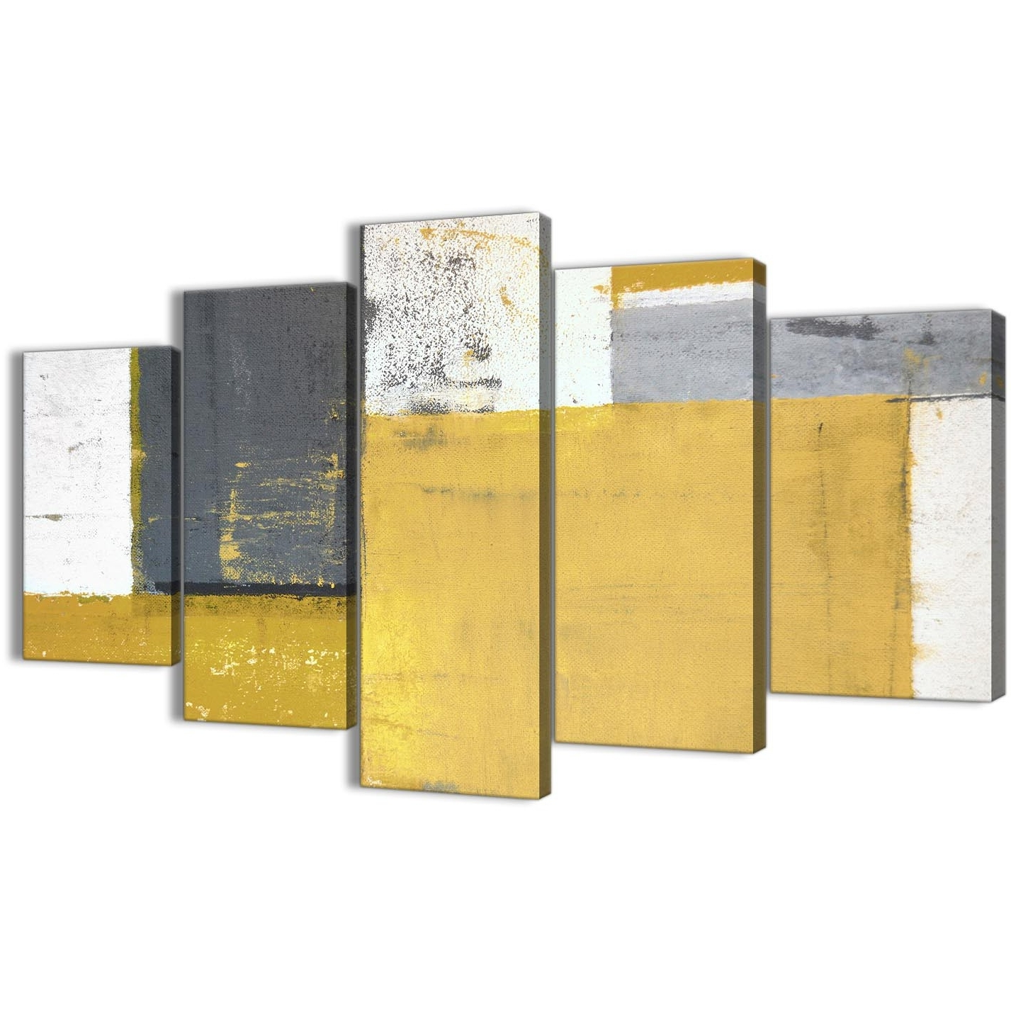 2017 Abstract Oversized Canvas Wall Art Inside Extra Large Mustard Yellow Grey Abstract Painting Canvas Wall Art (View 1 of 15)