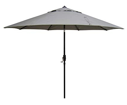 2017 Amazon : Bayside21 – 9' Sunbrella Tilt Market Umbrella – Taupe Inside Sunbrella Black Patio Umbrellas (View 7 of 15)