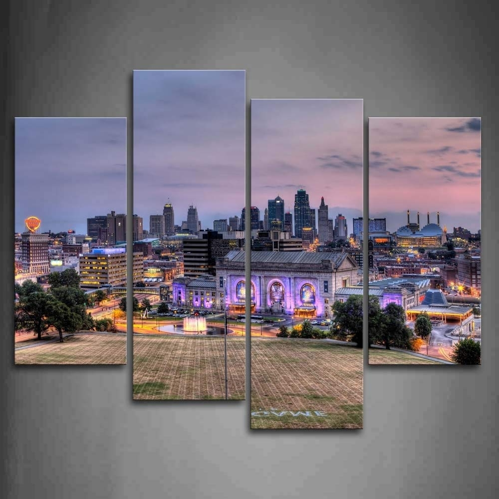 2017 Amazon: Buildings Of Kansas City With Wide Square Wall Art Regarding Kansas City Wall Art (View 1 of 15)