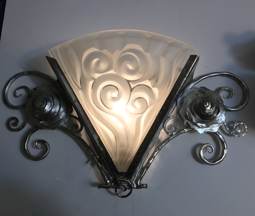 2017 Art Deco Wall Sconces Intended For Unique Art Deco Wall Sconces : Andrews Living Arts – Good Style Art (View 11 of 15)
