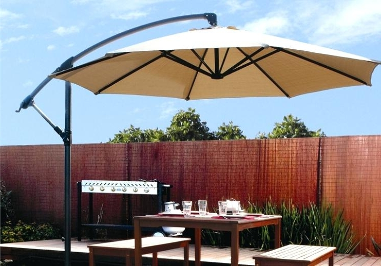 2017 Awesome 11 Foot Offset Patio Umbrella 11 Ft Steel Offset Patio With Hampton Bay Offset Patio Umbrellas (View 13 of 15)