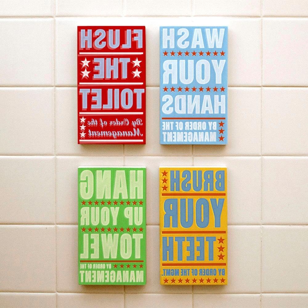 2017 Bathroom Wall Art & Decorating Tips » Inoutinterior In Bathroom Wall Art Decors (View 10 of 15)