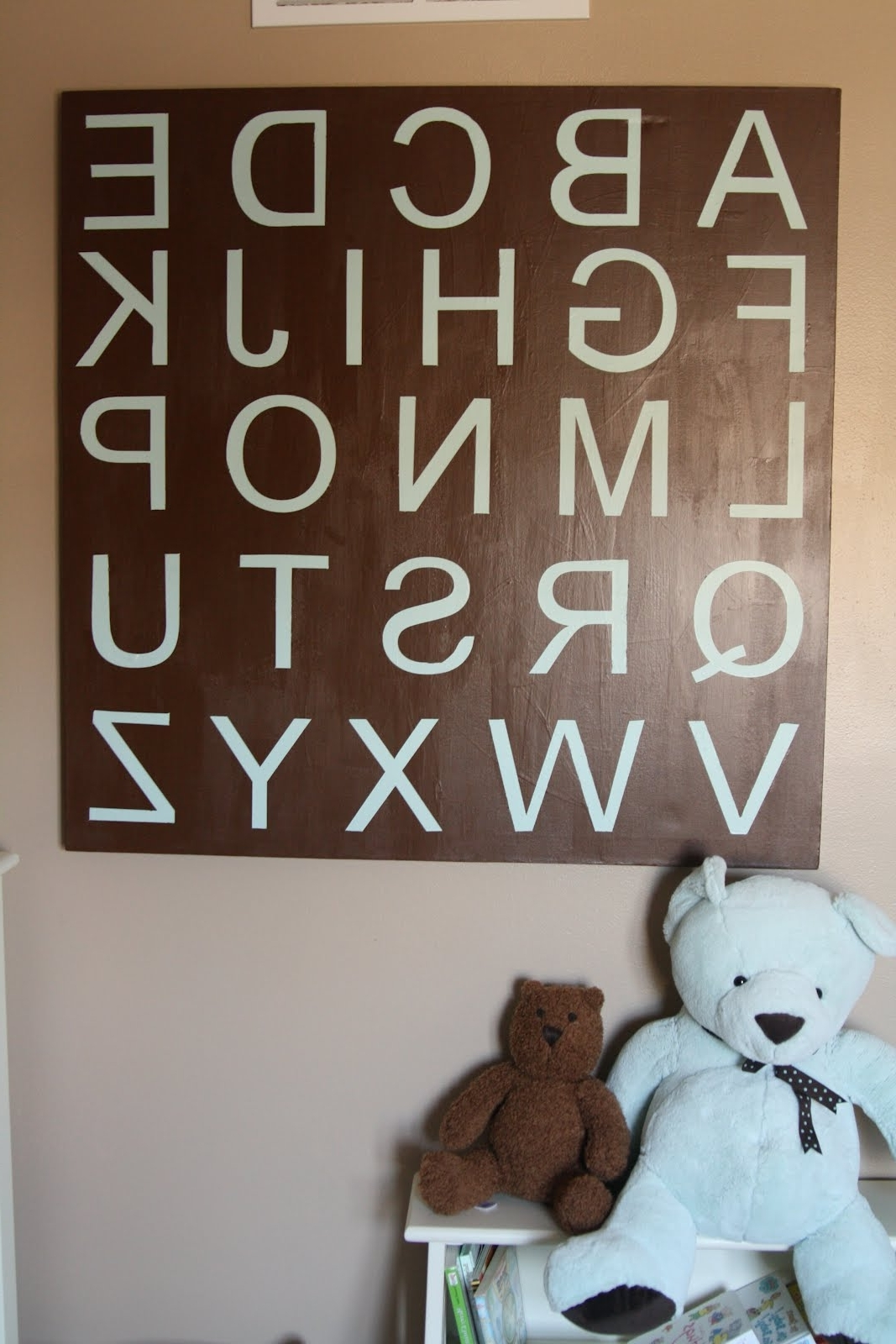 2017 Decorating The Dorchester Way: Large Alphabet Wall Art With Regard To Alphabet Wall Art (View 10 of 15)
