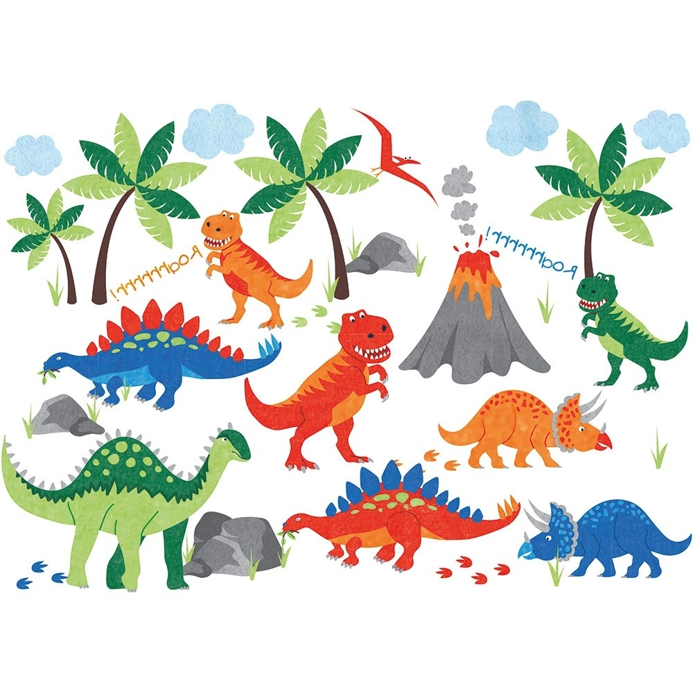 2017 Dinosaur Wall Decals (View 1 of 15)
