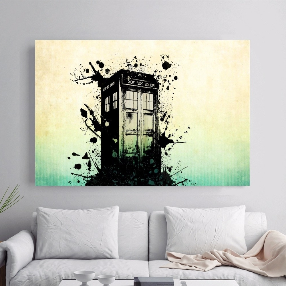 2017 Doctor Who Police Box Artwork Canvas Art Print Painting Poster Wall In Doctor Who Wall Art (View 1 of 15)