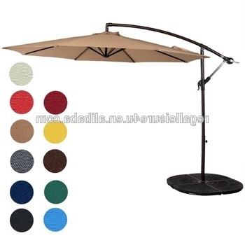 2017 Hanging Patio Umbrellas With Cantilever Patio Umbrella Outdoor Market Hanging Umbrellas & Crank (View 15 of 15)