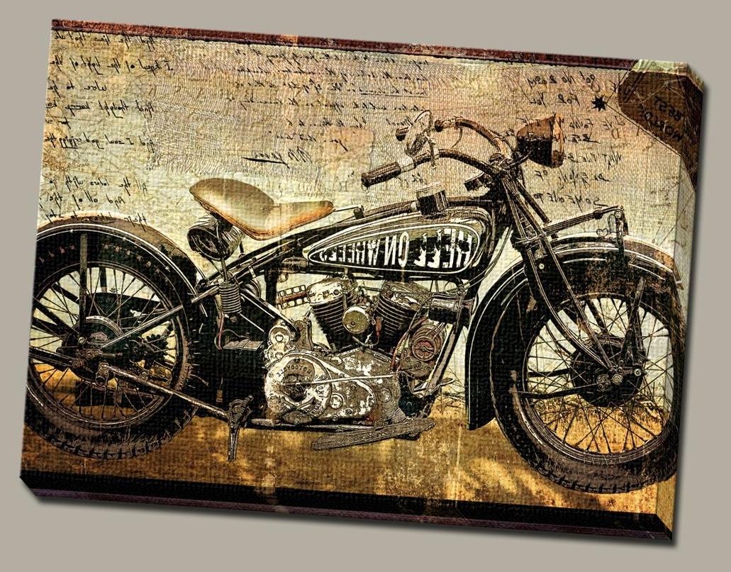 2017 Harley Davidson Wall Art Inside Harley Davidson Wall Art – Talentneeds – (View 5 of 15)