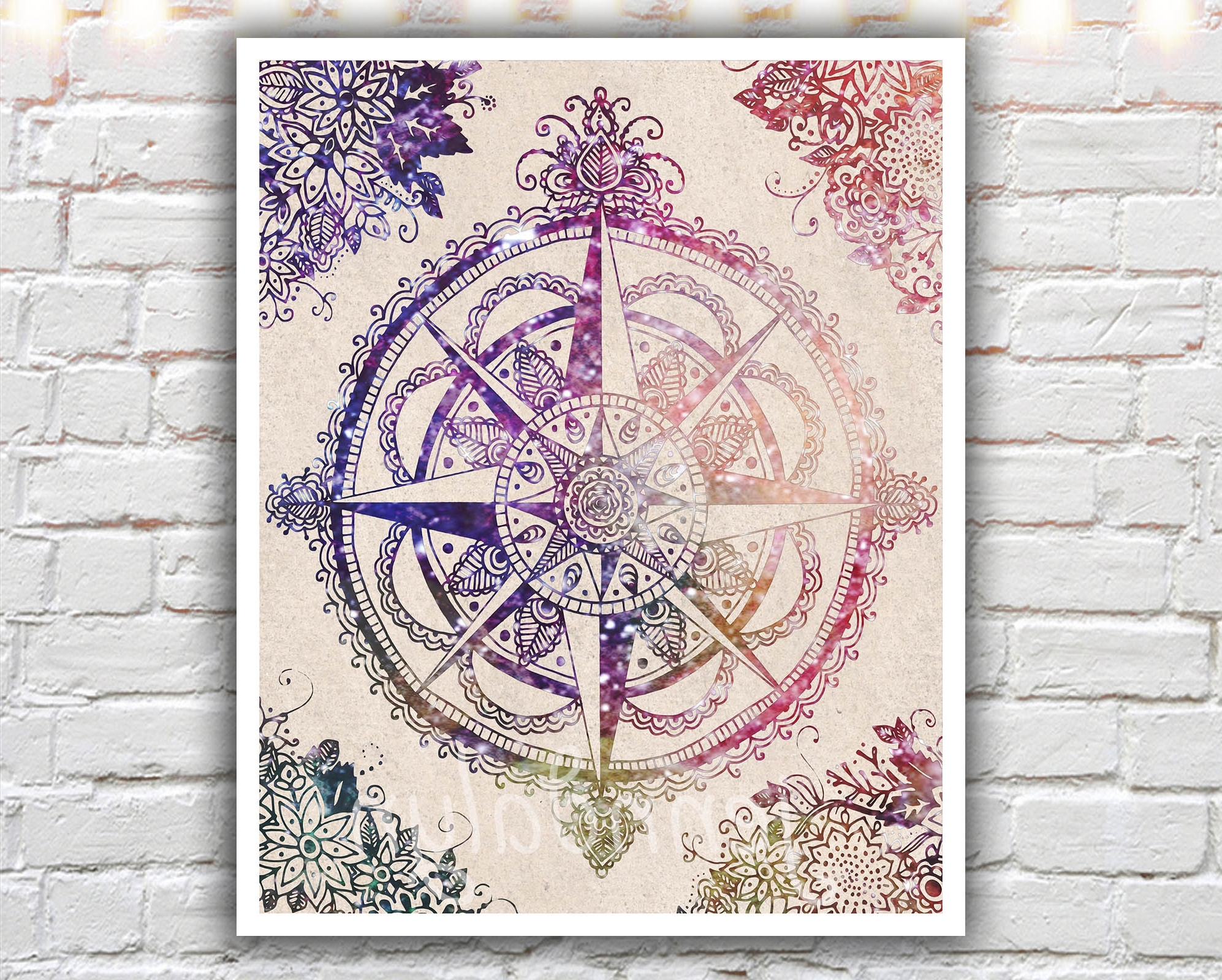 2017 Henna Wall Art With Regard To Voyager Ii – 16 X 20 Paper Print, Large Wall Art, Compass Rose (View 6 of 15)
