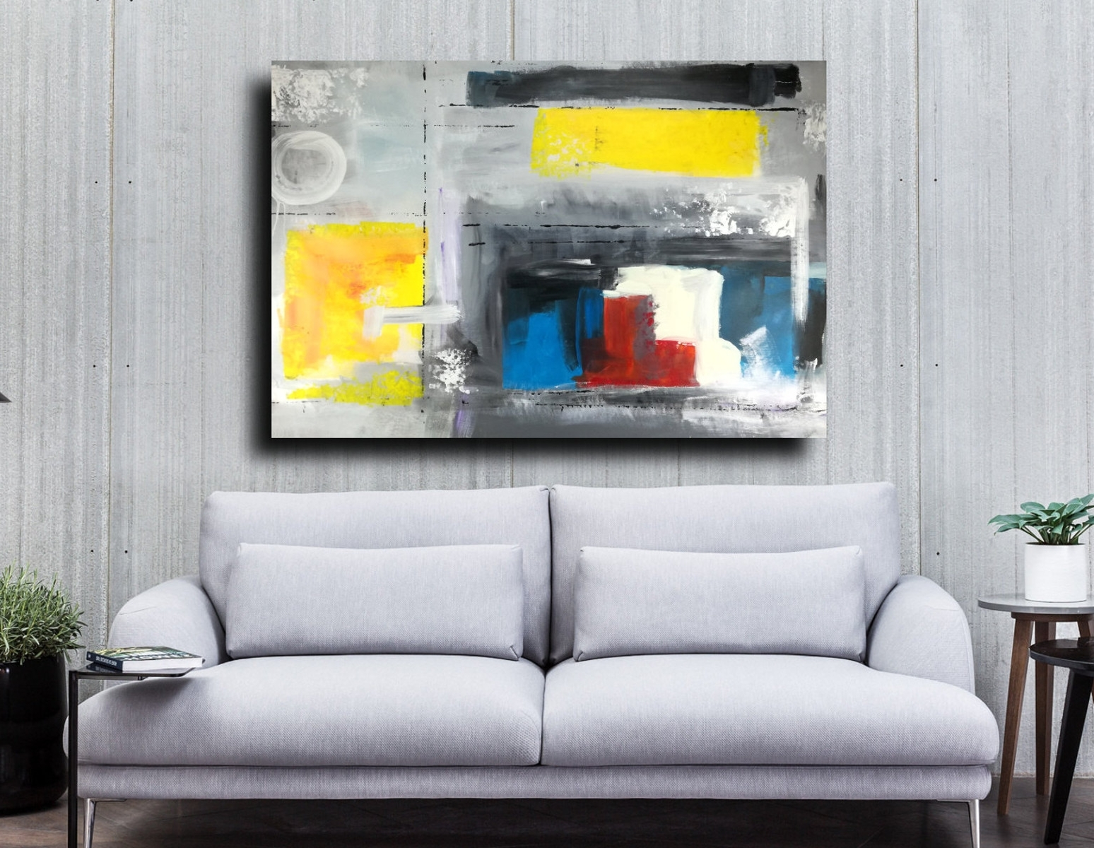2017 Large Abstract Wall Art Within Wall Art Large Painting 120X (View 1 of 15)