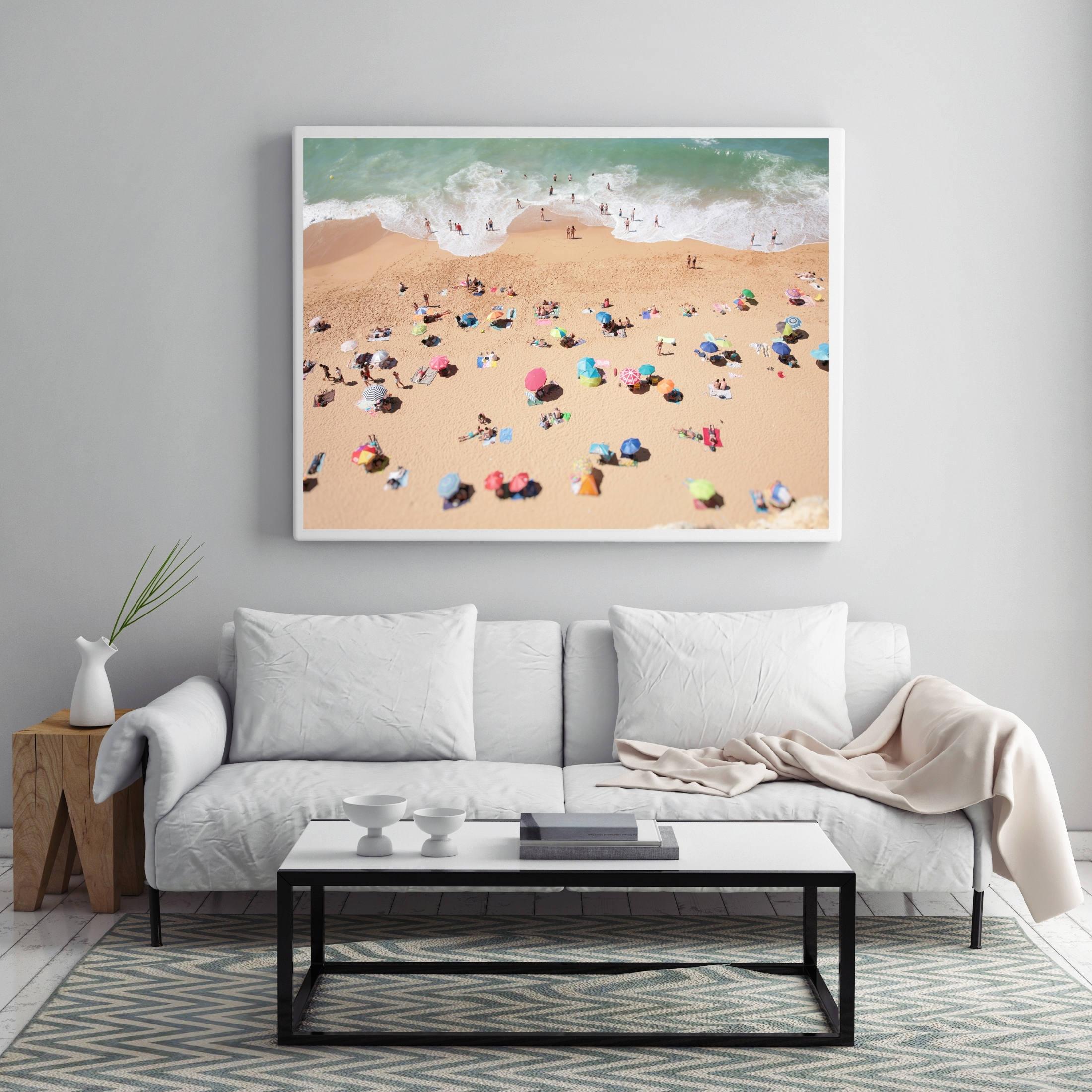 2017 Large Coastal Wall Art Inside Aerial Beach Photo, People On The Beach, Modern Wall Art, Beach (View 8 of 15)