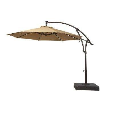 2017 Led Patio Umbrellas Pertaining To Solar Led Lighting Included – Patio Umbrellas – Patio Furniture (View 10 of 15)