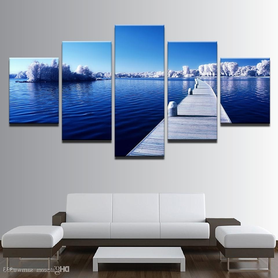 2017 Long Canvas Wall Art Regarding 2018 Canvas Home Decor Wall Art Pictures Snow Trees Forest Long (View 12 of 15)
