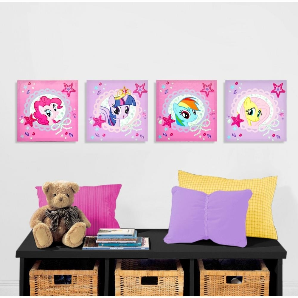 2017 My Little Pony 4 Piece Canvas Wall Art – Walmart For Wall Art At Walmart (View 1 of 15)