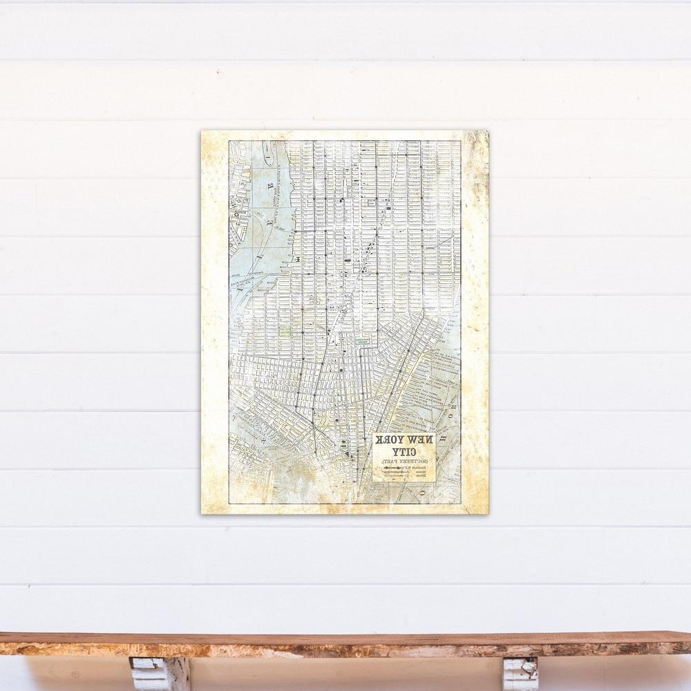 2017 New York City Map Wall Art Intended For Designs Direct 40 In. X 30 In (View 1 of 15)