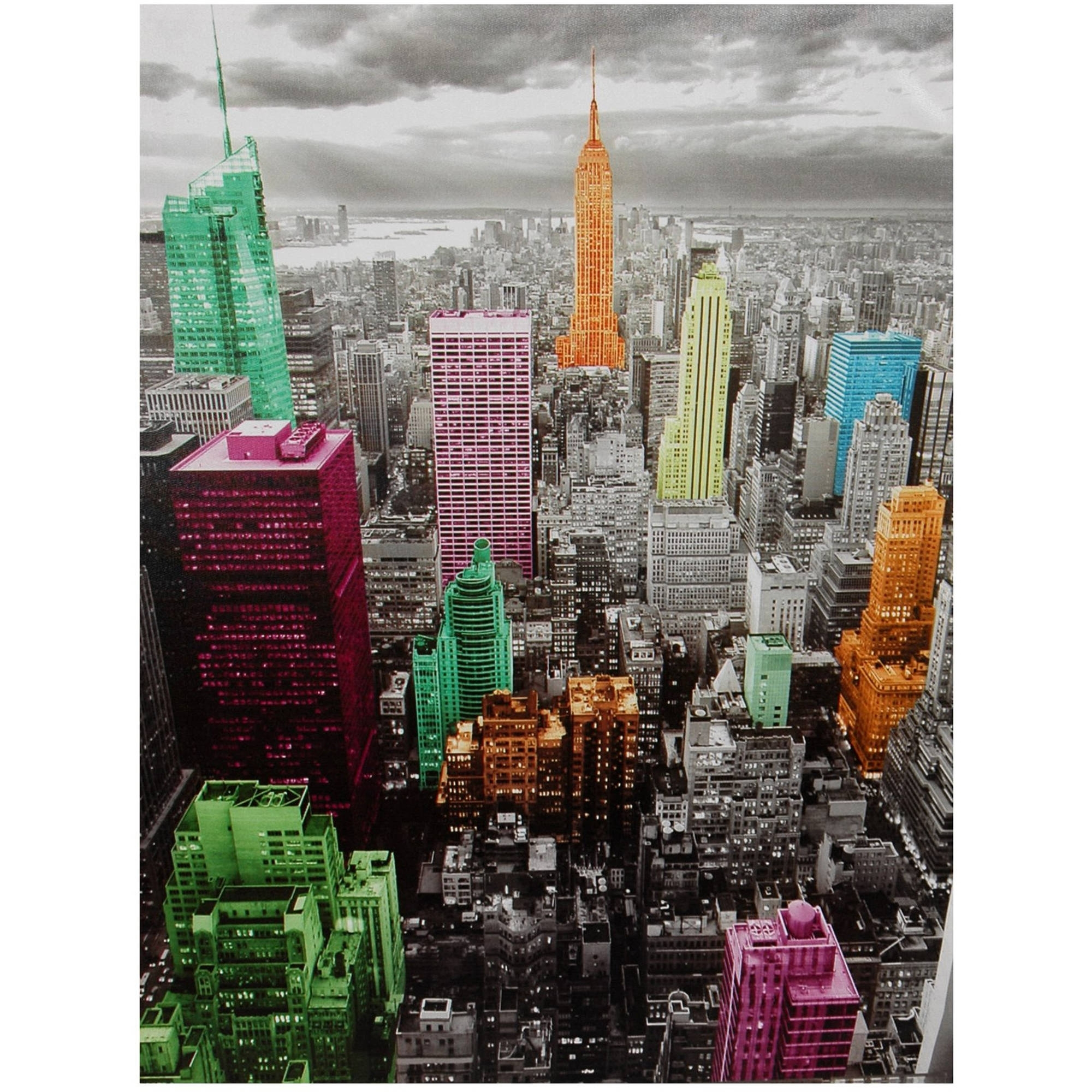 2017 Nyc Wall Art Regarding High Lights Of New York Skyline Canvas Wall Art – Walmart (View 7 of 15)