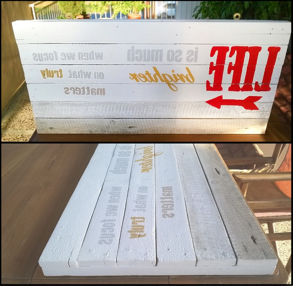 2017 Pallet Wall Art Regarding Pallet Wall Art: 6 Steps (With Pictures) (View 1 of 15)