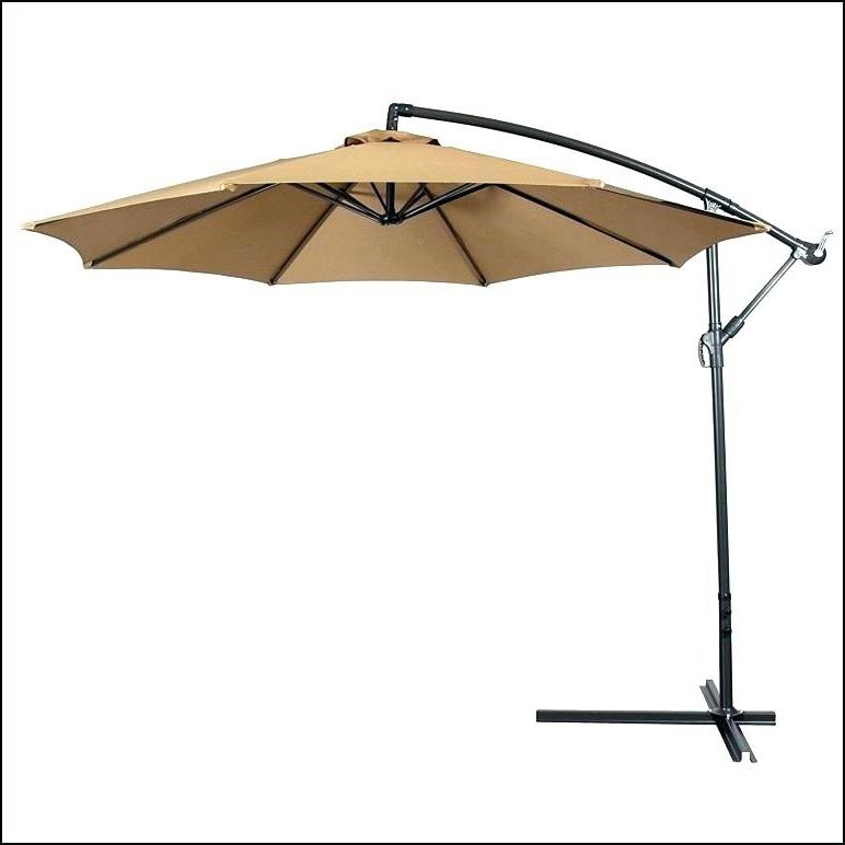 2017 Patio Umbrella Base Weights Simply Shade Offset Patio Umbrella Inside Offset Patio Umbrellas With Base (View 1 of 15)