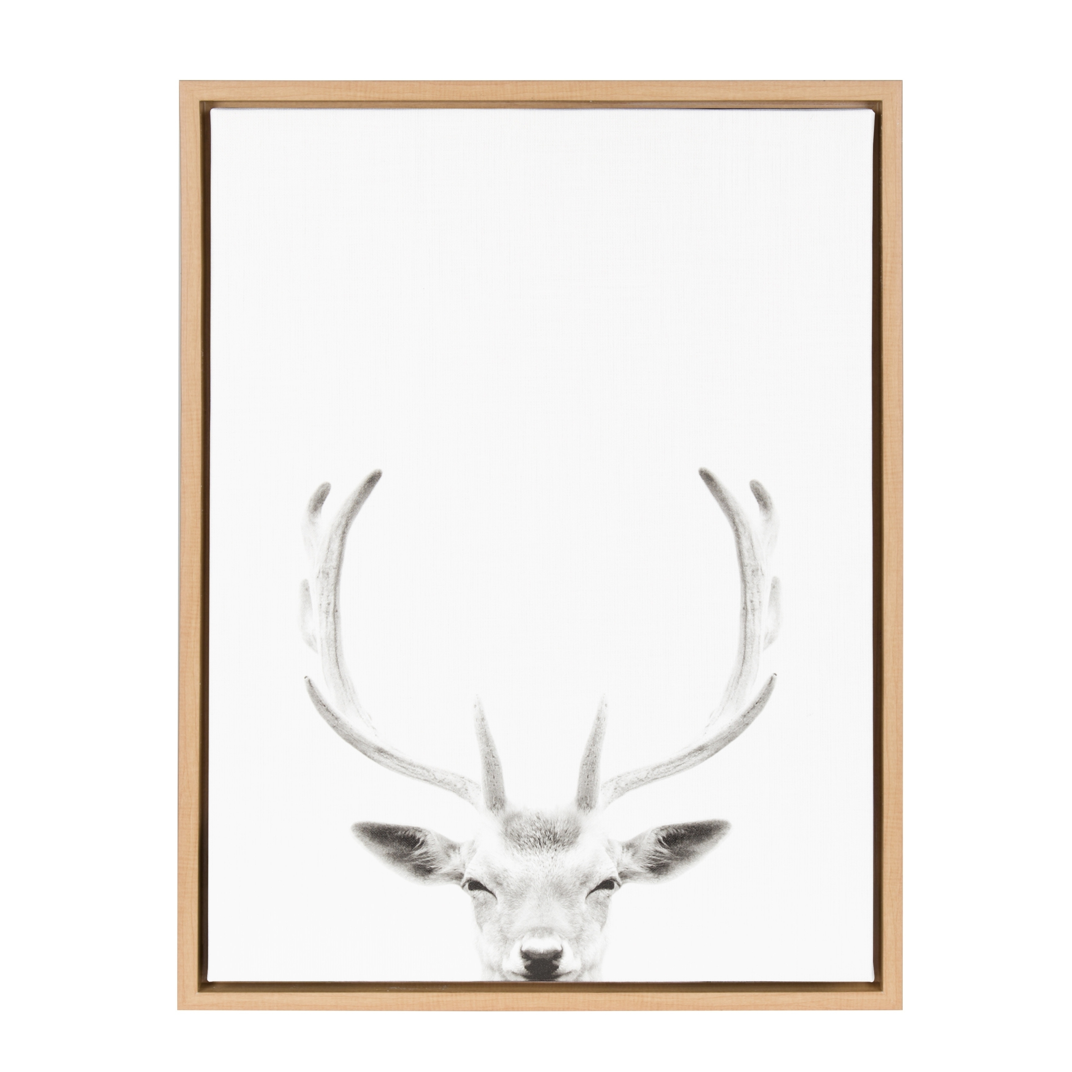 2017 Shop Sylvie Deer Portrait 18X24 Natural Framed Canvas Wall Art Within Deer Canvas Wall Art (View 1 of 15)