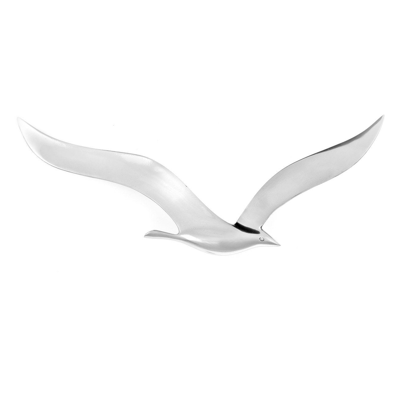 2017 Silver Metal Wall Art Inside Flying Seagull Bird – Handmade Metal Wall Art Decor – Silver, Large (View 1 of 15)