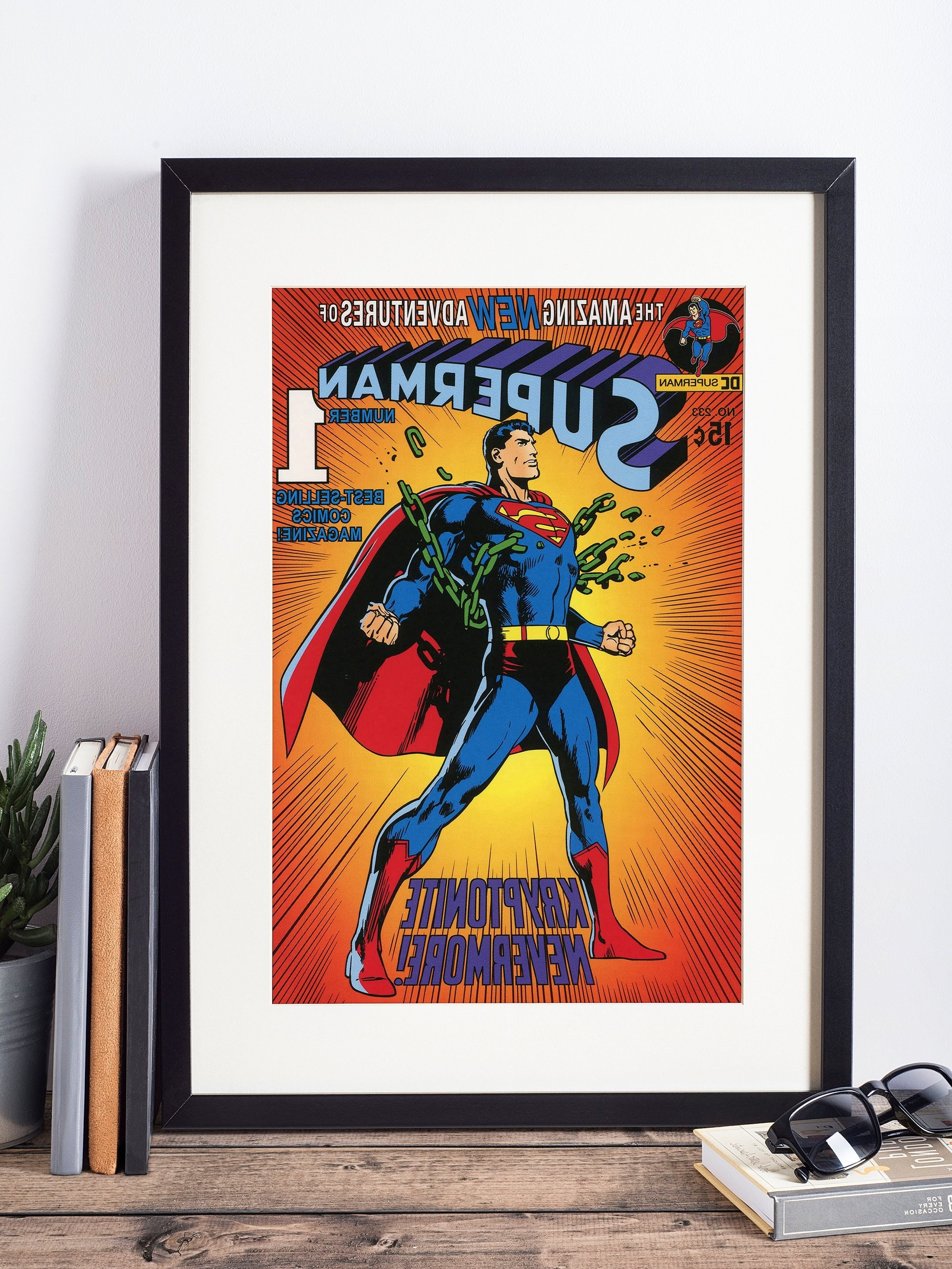 2017 Superhero Wall Art Inside Superman Poster / Superhero Wall Art / Superman Art / Nerd Gift (View 5 of 15)