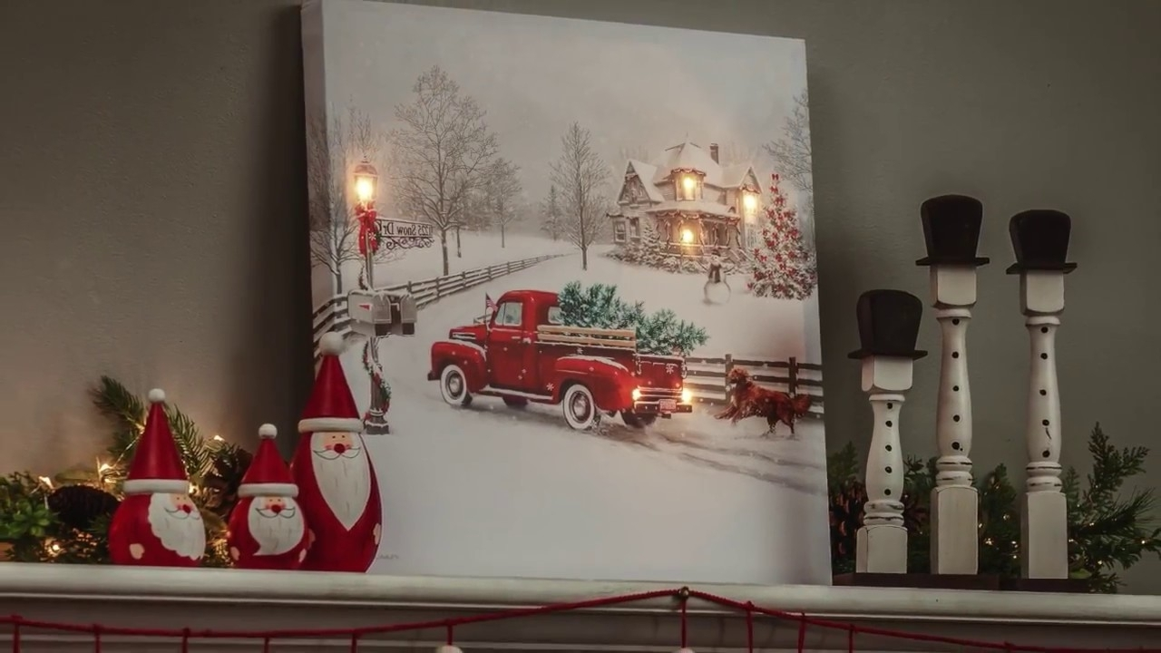 2017 Vintage Truck Led Light Up Canvas Wall Art (6Ltc6190) – Youtube Throughout Light Up Wall Art (View 1 of 15)