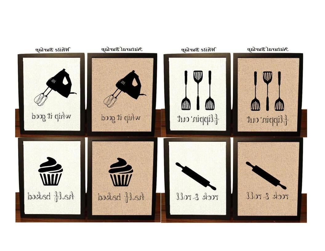 2017 Wall Art For Kitchen With Regard To Pick 4 Kitchen Wall Decor Kitchen Sign Kitchen Art Kitchen (View 14 of 15)