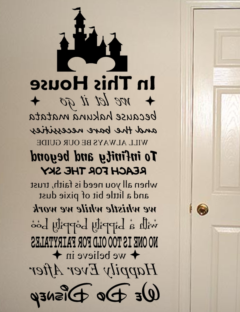 2017 Wall Art Quotes In We Do Disney Vinyl Wall Art Quote Decal Sticker Sign (View 7 of 15)