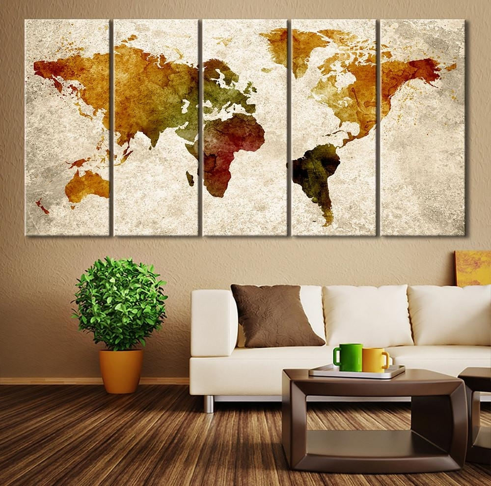 2017 World Map Canvas Art Print Large Wall Extra For – Soloway Regarding World Map Wall Art (View 14 of 15)