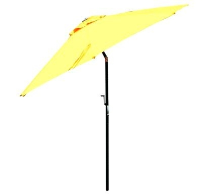 2017 Yellow Patio Umbrella 9 Auto Tilt Market Umbrellas Garden With Yellow Patio Umbrellas (View 14 of 15)