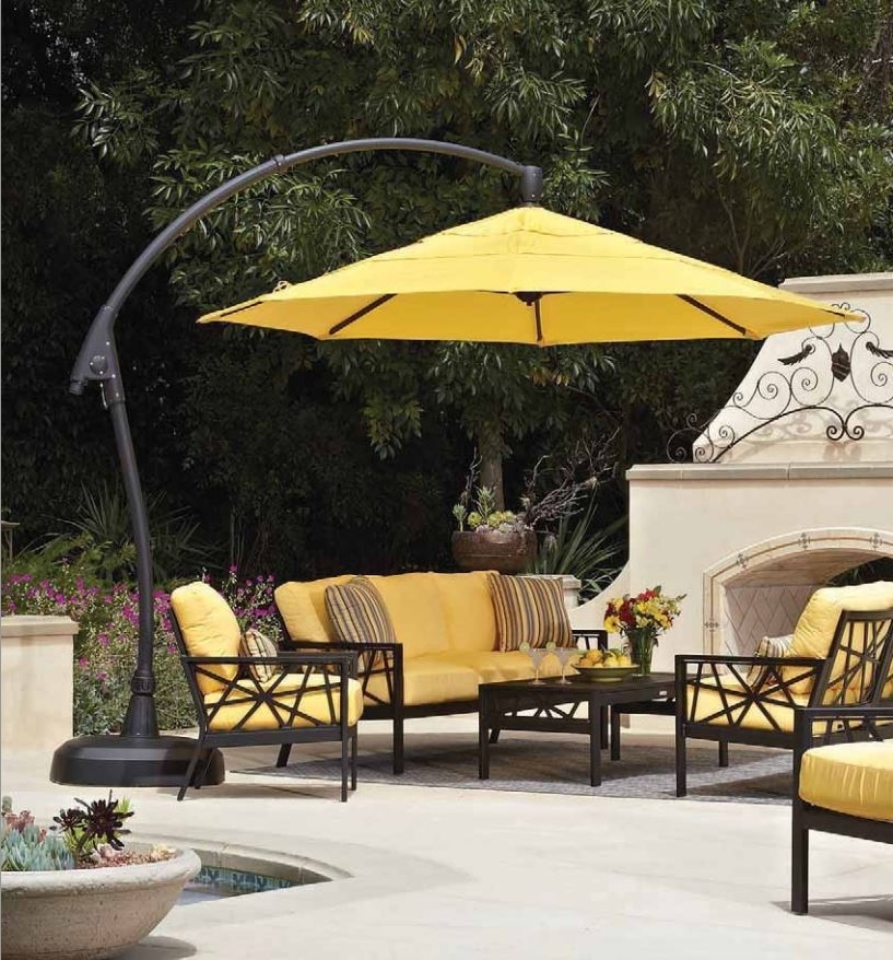 2017 Yellow Sunbrella Patio Umbrellas For Gorgeous Hearth And Patio Patio Decor Suggestion Umbrellas Maryland (View 8 of 15)