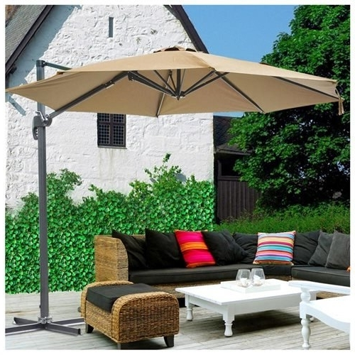 2017 Yescomusa: 10Ft Hanging Offset Roma Outdoor Patio Umbrella Uv30+ Throughout Hanging Offset Patio Umbrellas (View 14 of 15)