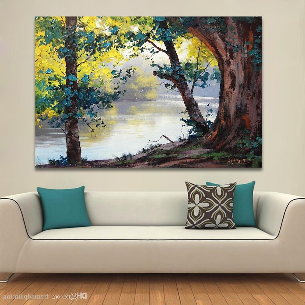 2018 2018 Landscape Painting Home Decor Wall Pictures For Living Room Regarding Living Room Painting Wall Art (View 10 of 15)